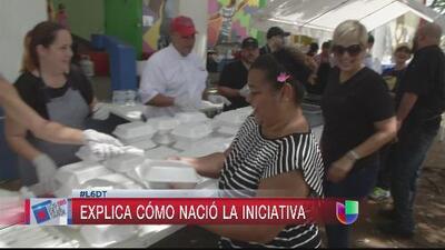 La chef Marilyn llevó comida caliente para Loíza