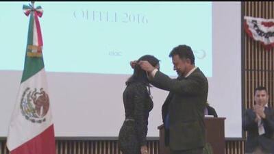 Gabriela Teissier recibió el reconocimiento Ohtli del Consulado de México en Los Ángeles