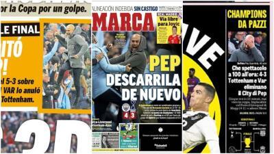 Guardiola es protagonista de las portadas deportivas tras la definición de los Cuartos de Champions