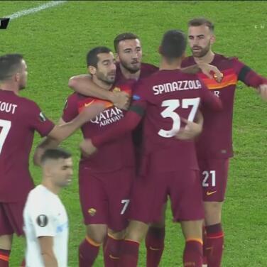 ¡Gol de vestidor! Henrij Mjitaryán adelanta 1-0 a la Roma