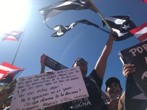 Puertorriqueños vuelven a la calle a exigir la renuncia de Rosselló