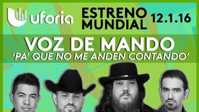 'Pa' Que No Me Anden Contando', lo más nuevo de Voz De Mando por si andaban con el pendiente