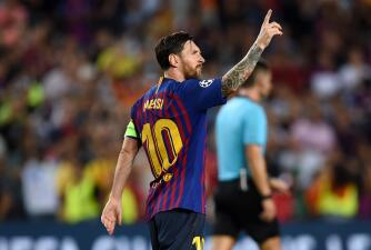 En fotos: con Lionel Messi y su 'hat trick', Barcelona atropelló al PSV de 'Chucky' y 'Guti'
