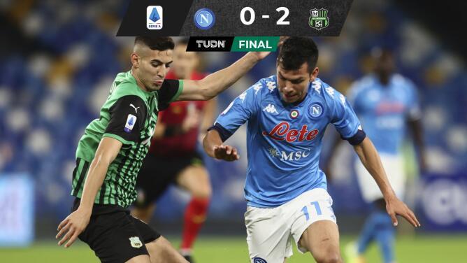 Derrota y gris juego del Napoli con Hirving Lozano