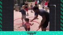 Un papá hace lo imposible para que su hija brille en los deportes
