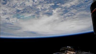 Así se ve el huracán Michael desde la Estación Espacial Internacional