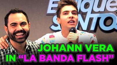 """Johann Vera brings you """"La Banda Flash"""" behind the scenes of the"""" Enrique Santos Show"""