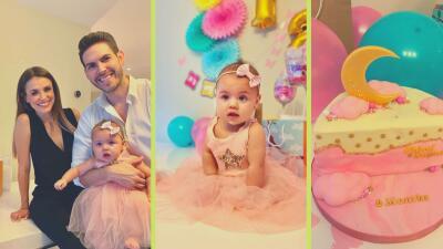 Con medio pastel y un ambiente rosado, Carolina Sarassa arma la fiesta por los seis meses de su bebé Chloé