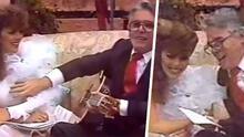 Video expone a Enrique Guzmán tocándole la 'boobie' a Verónica Castro en programa de televisión