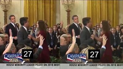 Un análisis muestra que el video de Sarah Sanders sobre Jim Acosta fue presuntamente manipulado