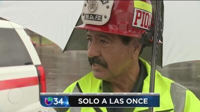 Detalle de las zonas en riesgo por las lluvias en el sur de CA - Noticiero Univision Solo A Las Once