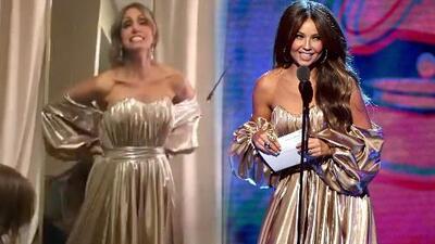 Lili Estefan asegura que tiene la cintura de Thalía tras medirse un vestido de la artista