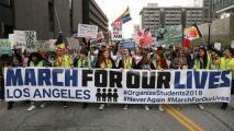 Decenas de personas se reunieron en el centro de Los Ángeles para exigir control de armas