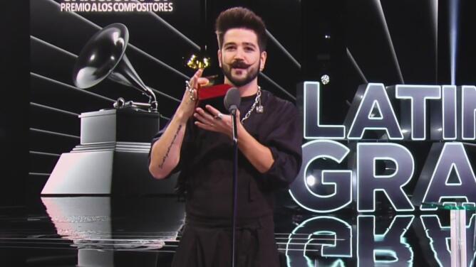"""""""Qué fuerte esto"""": Camilo, muy agradecido, recibe el Latin GRAMMY de Mejor Canción Pop por 'Tutu'"""