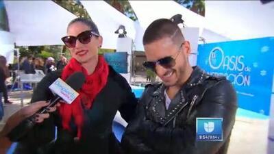 Natalia Jiménez le dice a Maluma cómo pasarla bien en Las Vegas