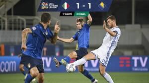 Italia apenas logra empatar con Bosnia en Florencia