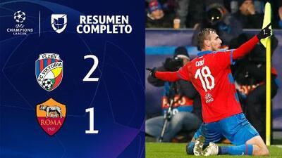 Victoria Plzen 2 -1 Roma – GOLES Y RESUMEN - Grupo G - UEFA Champions League