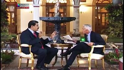 """""""Te vas a tragar tus provocaciones"""": Nicolás Maduro a Jorge Ramos en la entrevista que le fue incautada en febrero pasado"""