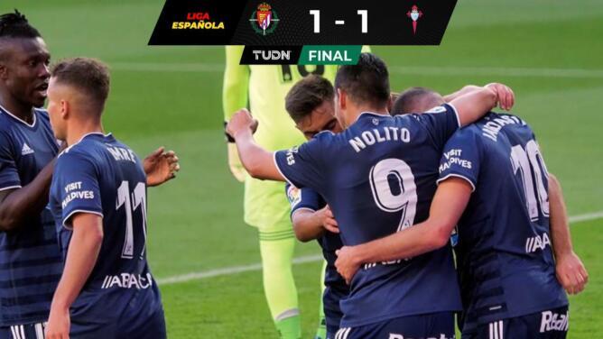 Con Néstor Araújo, el Celta igualó fuera de casa ante Valladolid