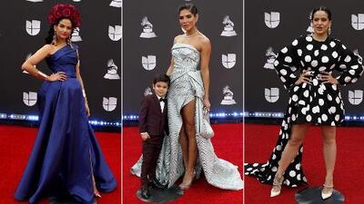 Alejandra Espinoza (con un pequeño galán) enfrentó su look de Latin GRAMMY a los de Natalia Jiménez y Rosalia