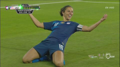 ¡De palomita! Golazo de Carli Lloyd anota el 3-0 para Team USA
