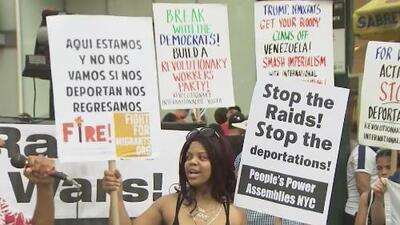 Decenas de personas arrestadas es el saldo de una manifestación en Manhattan en contra de los posibles operativos de ICE