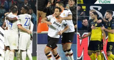 ¡Borussia Dortmund, Olympique de Lyon y Valencia ganan en Champions!