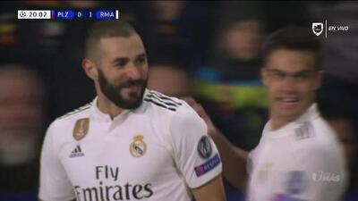 ¡GOOOL! Karim Benzema anota para Real Madrid