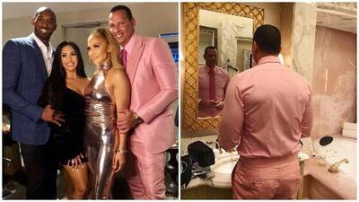 """""""JLo no lo vistió"""": La Flaca y Jomari Goyso no entienden cómo A-Rod pudo usar este look rosa"""