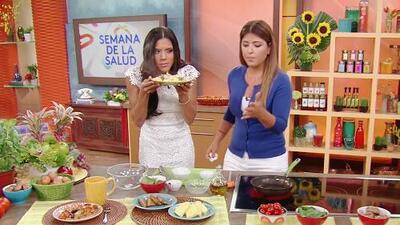 Francisca inauguró la Semana de la Salud con un desayuno muy saludable