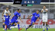 Resumen | Cruz Azul 4-0 Pumas, gran ventaja en la semifinal
