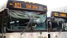 La crisis aumenta el número de usuarios de transporte público en San Juan