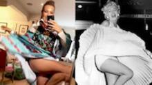 A lo Marilyn Monroe, Thalía modela un excéntrico (y extraño) atuendo de la icónica diseñadora Iris Apfel