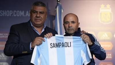 Jorge Sampaoli, presentado con Argentina