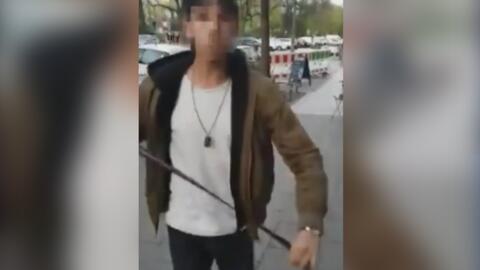 La agresión racista de un joven contra un judío en las calles de Alemania que causa revuelo en las redes