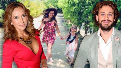 Geraldine Bazán otra vez de vacaciones con Lambda García y esta vez se lleva a sus hijas