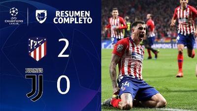 Atlético de Madrid 2-0 Juventus – GOLES Y RESUMEN COMPLETO – IDA OCTAVOS DE FINAL – UEFA Champions League