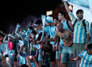 Racing Club de Avellaneda celebra la obtención de su título número 18 en el fútbol argentino