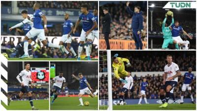 Everton y Tottenham dividen puntos en un juego accidentado