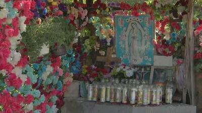 Buen samaritano restaura el altar de la Virgen en La Villita tras ser vandalizado