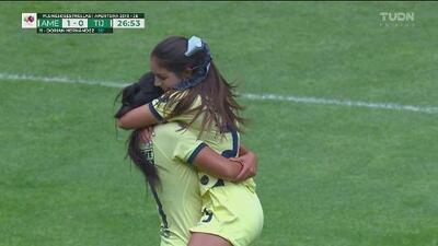 Montserrat Hernández adelanta al América con impresionante gol