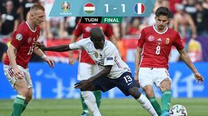 Francia carece de contundencia y empata ante una sorpresiva Hungría