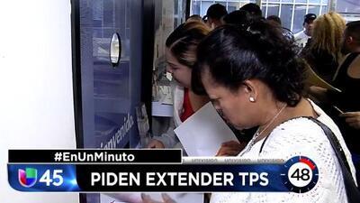En Un Minuto Houston: Senadores demócratas piden renovar el TPS a miles de salvadoreños y hondureños