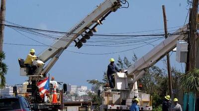 La AEE restablece el servicio eléctrico en los sectores afectados en Puerto Rico