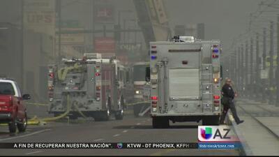 Incendio voraz irrumpió hasta el tráfico