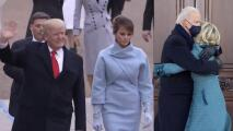 Entre la ternura de los Biden y la frialdad de los Trump: así se mostraron las parejas presidenciales en sus juramentaciones