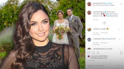 Claudia Martín enfrenta una dificultad para su boda religiosa con Andrés Tovar