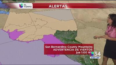 Emiten una alerta por fuertes vientos en el sur de California