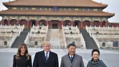 Las fotografías del recorrido de Donald Trump por Asia