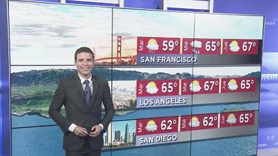 Cielos parcialmente nublados se prevén para la noche de este martes en Los Ángeles